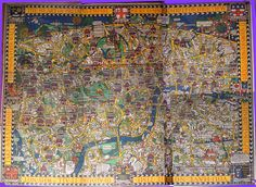 """Wonderground Map of London,"" MacDonald Gill, 1918"