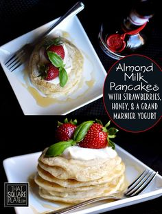 Sweet Almond Pancakes With Fresh Raspberries Recipe — Dishmaps