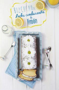Receta del mejor bizcocho de leche condensada con ralladura de limón.