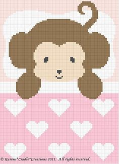 Crochet Patterns-SWEET DREAMS BABY GIRL MONKEY Pattern #KarensCradleCreations