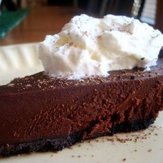 Recipe: Chocolate Truffle Pie