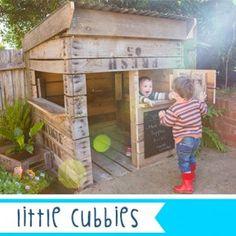 Little Cubby » Kids Stuff  Upcycled apple crates, now a little persons shop front.