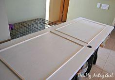 hollow core bore to a beautiful updated door diy slab door makeover, doors, how to, painting