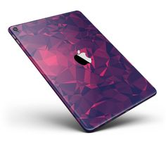 "Vivid Fuchsia Geometric Triangles Full Body Skin for the iPad Pro (12.9"" or 9.7"" available) from DesignSkinz"