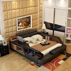 bedroom furniture sets modern leather queen size