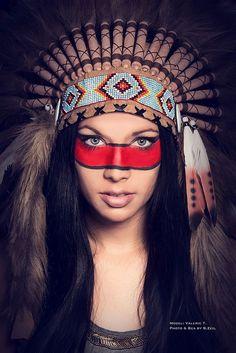 Native American Indianer MakeUp Photography Studio Woman Female