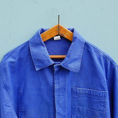 Vintage French WorkwearFaded Chore Jacket Bleu de travail