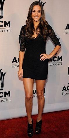 Jana Kramer ... love her!  Mini long sleeve dress & booties