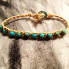 Turquoise Wrap Bracelet  Beach by MaSoeurJewelry on Etsy, $3.00