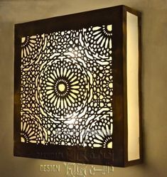 Wall Sconces – Page 6 – Tazi Designs Moroccan Lighting, Moroccan Lamp, Moroccan Lanterns, Moroccan Design, Vertical Garden Wall, 3d Laser, Wooden Lamp, Ceiling Design, Interior Lighting