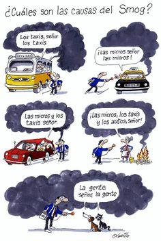 #¿Cuáles son las causas  del Smog?