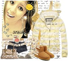 """""""yellow day♥"""" by charlotte-xoxo ❤ liked on Polyvore"""