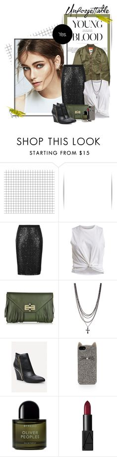 """""""Unforgettable"""" by janainajesuino ❤ liked on Polyvore featuring M&S Collection, VILA, Diane Von Furstenberg, Bebe, Kate Spade, Byredo, NARS Cosmetics and MANGO"""