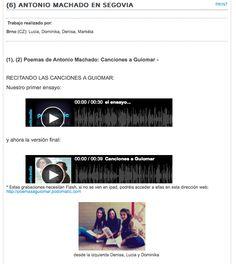 Lectura de los poemas y Guiomar (trabajos de los alumnos/as)