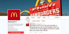 "Top News: ""USA POLITICS: McDonald's Deletes Trump Tweet, Says Twitter Account Compromised"" - http://politicoscope.com/wp-content/uploads/2017/03/McDonalds-deletes-Trump-tweet-says-Twitter-account-compromised.jpg - McDonald's Corp (MCD.N) said its official Twitter account had been compromised after it quickly deleted a tweet sent from the company's handle slamming U.S. President Donald Trump.  on World Political News - http://politicoscope.com/2017/03/16/usa-politics-mcdonalds"