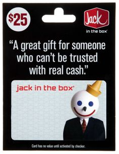 Amazon.com: Jack in the Box Gift Card $25: Gift Cards Store