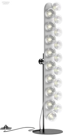 Bertjan Pot's Prop Light floor lamp in HIPS plastic and PPMA with glass bulbs by Moooi.
