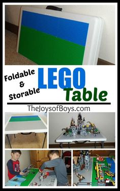 Love LEGO but hate having them all over the floor?  Me too! This DIY LEGO table is super easy to build, makes it so easy for your kids to create and? It folds up easily when not in use! It may just be your new favorite piece of furniture!