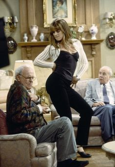 "Brooke Shields with Harvey Korman and Tim Conway on ""Suddenly Susan,"" 1997"