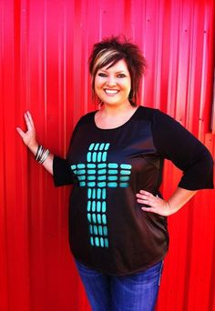 Kneel At The Cross - Plus Size Top