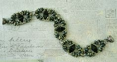 Linda's Crafty Inspirations: Bracelet of the Day: Duo Kheops - Jet Picasso