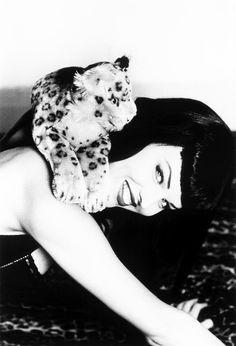 faux bettie page leopard