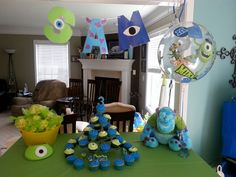 Monsters Inc party Can't wait for Mj 3rd bday
