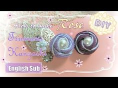 【つまみ細工】コロンとかわいい♡玉バラの作り方 ~How to make Tsumami Kanzashi Rose ~ - YouTube Projects For Kids, Diy Projects, How To Make Rose, Flower Video, Kanzashi Flowers, Handmade Flowers, Ribbon Bows, Fabric Flowers, Fabric Crafts