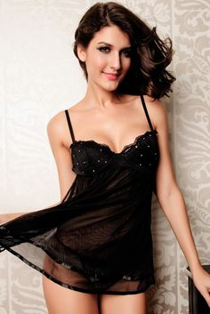 e9219ae6d Black Obsessive Kalia Sexy Babydoll Dress. See more. Black Embellished Babydoll  Babydoll Lingerie