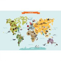 Free Printable World Map For Kids Maps And Garys Scattered Mind - Printable childrens world map