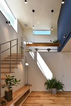 Loft Design, Home Interior Design, House Design, House Layouts, Building A House, Japanese Modern House, Pole Barn House Plans, Small Apartment Design, Stairway Design