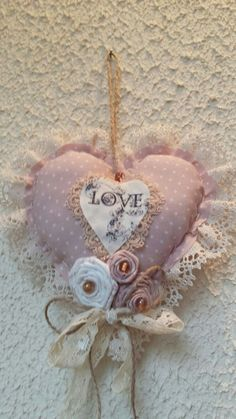 Etsy - Shop for handmade, vintage, custom, and unique gifts for everyone Valentines Bricolage, Valentine Crafts, Heart Decorations, Valentine Decorations, Diy Arts And Crafts, Diy Crafts, Shabby Chic Hearts, Fabric Hearts, Crazy Patchwork