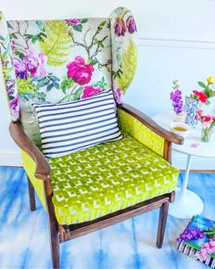 Showing how versatile our fabrics are for upholstery. Image from Blueberry Living Co.