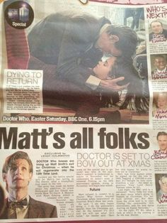 Goodbye Matt Smith, you have made Doctor Who amazing and we will miss you so much!