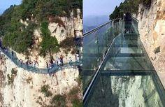 Niesamowity szklany most w Chinach [zdjęcia]