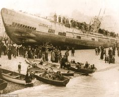 Lock, Stock, and History  German U-boat U118 washed ashore in England 1919