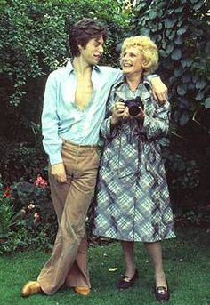 Leni Riefenstahl and Mick Jagger for the Sunday Times Magazine in 74