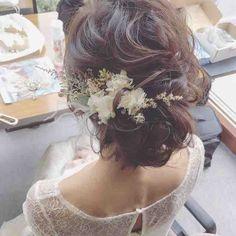 今日は神奈川でブライダルでした☺︎まずは挙式スタイル ・ #プレ花嫁 #卒花 #ブライダルヘアメイク #ヘアアレンジ #ブーケ #和装 #WD #CD Bridal Hair And Makeup, Wedding Makeup, Hair Makeup, Natural Hair Styles, Short Hair Styles, Bridal Hair Inspiration, Bridal Headdress, Hair Arrange, Bridal Hair Accessories