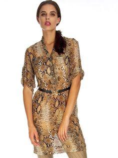 PYTHON PRINT TUNIC Python Print, Affordable Fashion, Wrap Dress, Tunic, Shopping, Dresses, Women, Style, Vestidos