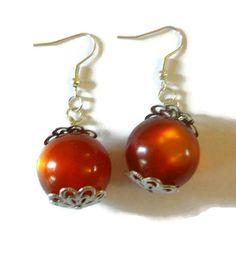 Glass Ball Earrings by TaylorsArtsAndCrafts on Etsy