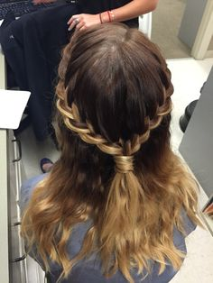 Very quick and easy but still really cute! Hair for any occasion! | Hair by Kayla Johnson