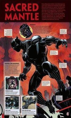 Marvel Black Panther: The Ultimate Guide Marvel Comics Art, Marvel Vs, Marvel Heroes, Storm Marvel, Cosmic Comics, Black Panther Comic, Panther Pictures, Superhero Design, Superhero Facts
