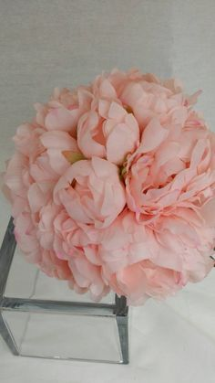 No. 3018  Pink Peony Bouquet Artificial Flower Bouquet, Artificial Flower, Wedding Bouquet,Bridal Bouquets Bridesmaid Bouquet. by AFlowerAndMore on Etsy https://www.etsy.com/listing/223291679/no-3018-pink-peony-bouquet-artificial