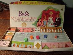 1963 Vintage The Barbie Game, Queen of the Prom (2nd Edition) - Board and Pieces - Mattel