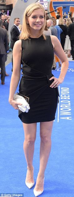 Lady in black: Countdown presenter Rachel Riley showed off her figure in a backless black ...