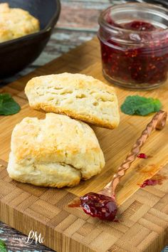 3 Ingredient Biscuits for Two is the perfect serving for 2 people. Pillowy soft, tall and fluffy, you'll love this homemade biscuit recipe!