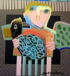 Leif Sylvester See previous comments (wkb) Collage, Visionary Art, Outsider Art, Figurative Art, Art For Kids, Dog Cat, Art Gallery, Abstract, Cat Paintings