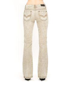 Loving this Rose Royce Mink Randi Bootcut Jeans on #zulily! #zulilyfinds