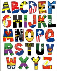 Discover recipes, home ideas, style inspiration and other ideas to try. Superhero Alphabet, Superhero Classroom, Superhero Room, Avengers Birthday, Superhero Birthday Party, Boy Birthday, Batman Party, Superhero Party Invitations, Birthday Letters