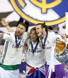 Sergio Ramos, Lukas Modric and Gareth Bale - Real Madrid for la Duodecima 2017 Cardiff